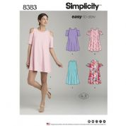 8383 Simplicity Pattern: Misses Knit Dress